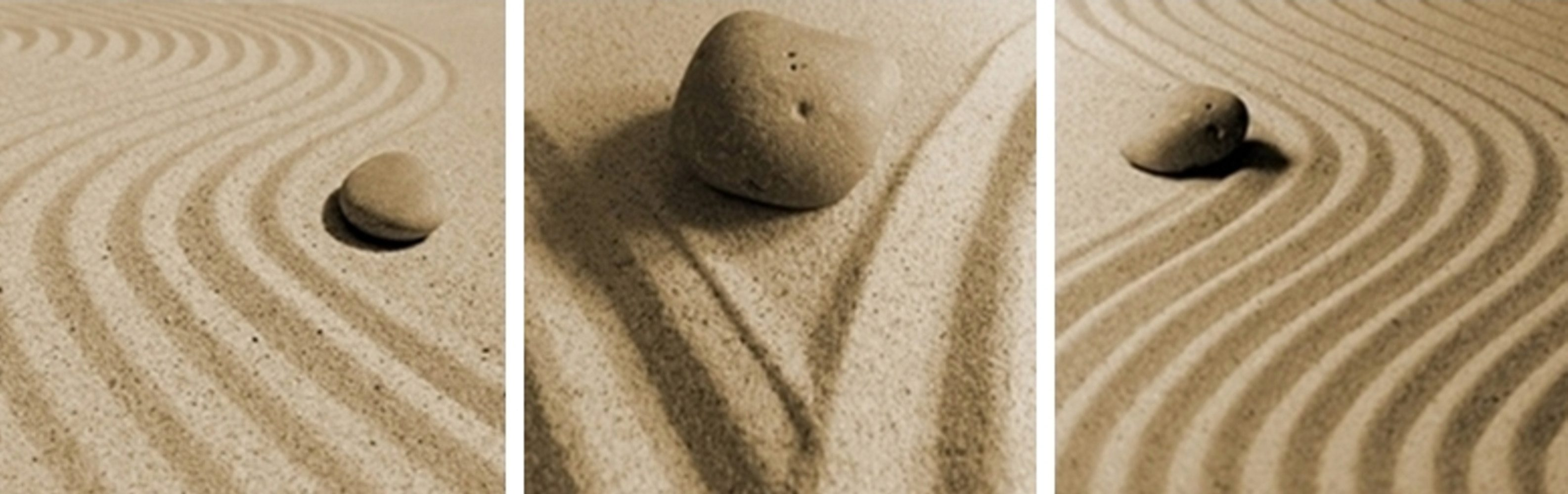 Home Affaire Bild Kunstdruck »Sand & Stones«, (3-tlg.)