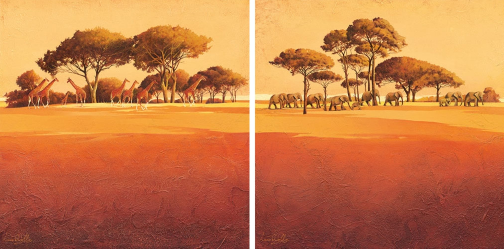 Home Affaire Bild Kunstdruck »Serengeti I/II«, (2-tlg.)