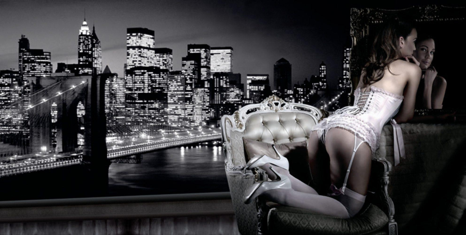 Home Affaire Bild Kunstdruck »Evening in New York«, 100/50 cm