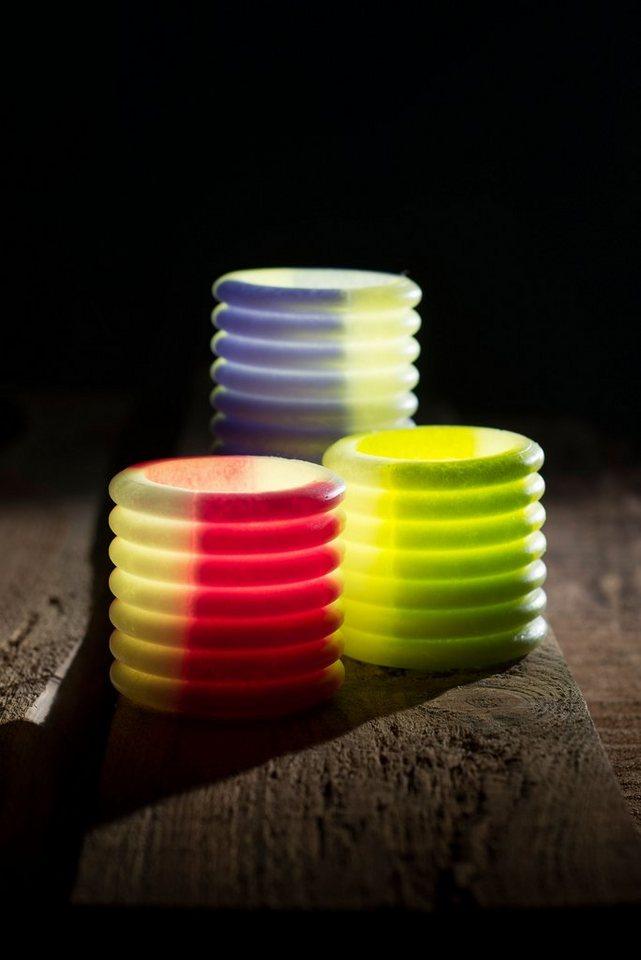 Home affaire LED Kerze »Lampion«, 3-er Set