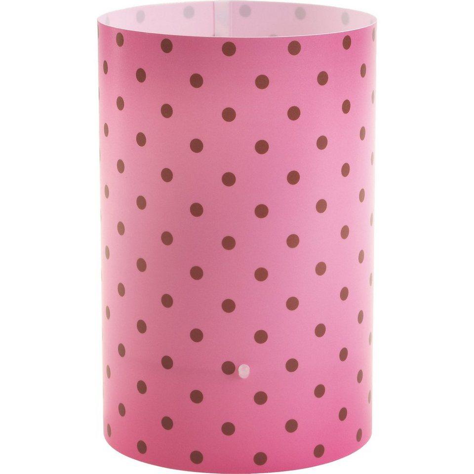 Dalber Tischlampe Pink, gepunktet in pink