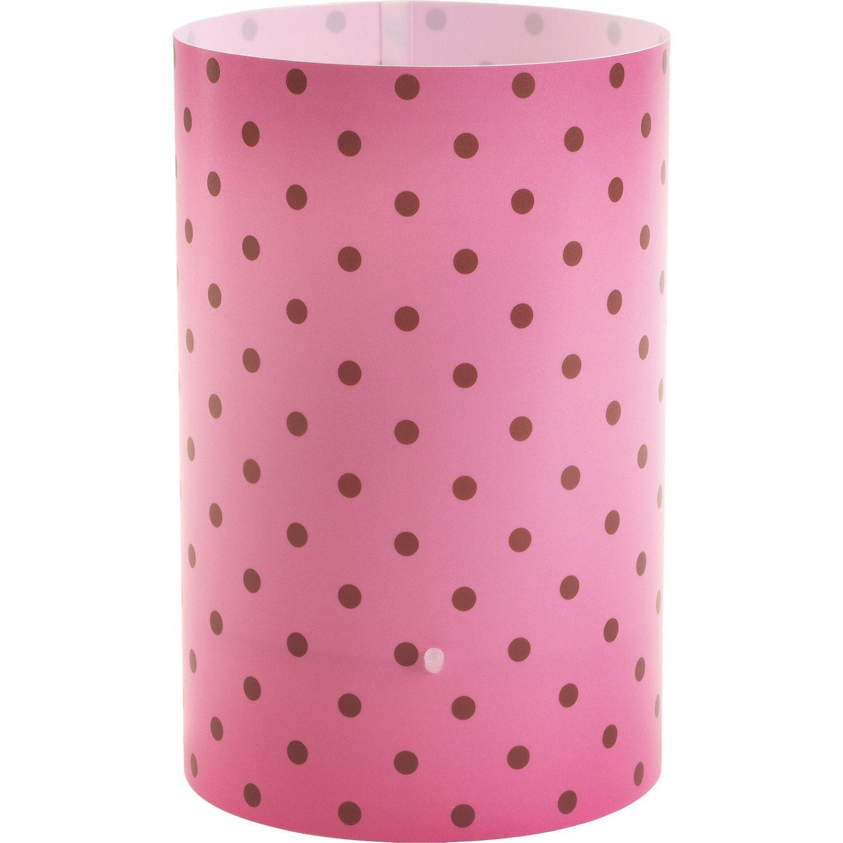 Dalber Tischlampe Pink, gepunktet