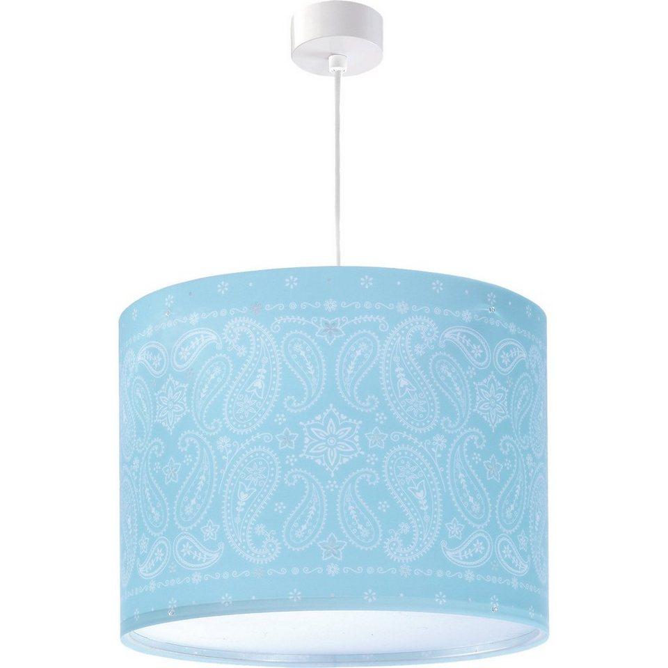 Dalber Hängelampe Ornamente, blau in blau