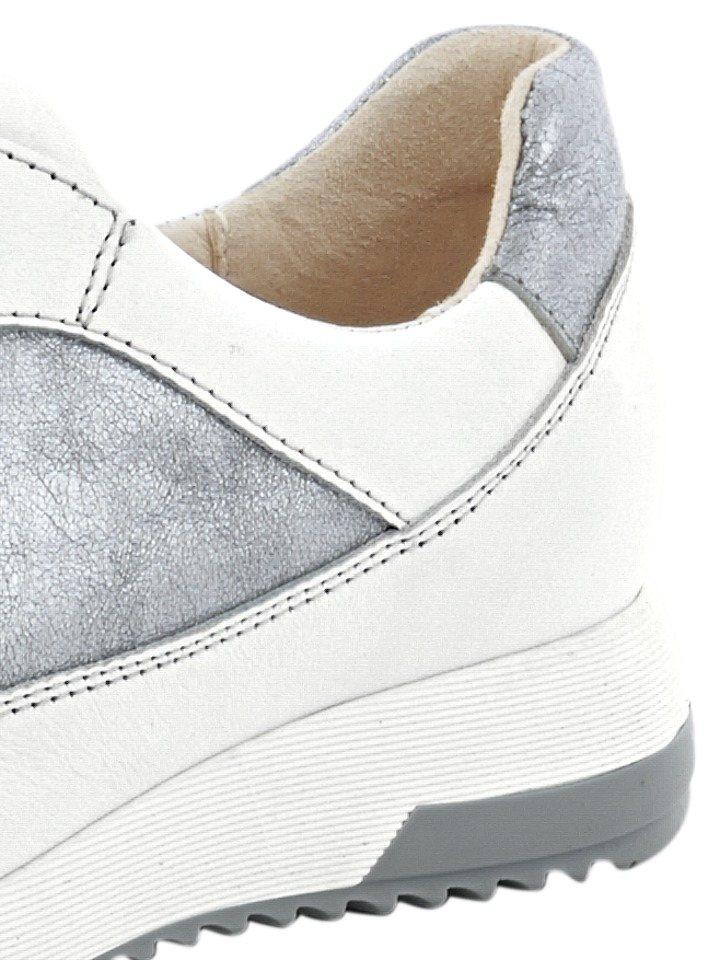 Sneaker in weiß/silberfarben