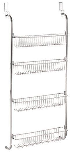 ZELLER Badregal »Tür-Hängeregal m. 4 Körben«, Metall verchromt, 49,5x14x109 cm