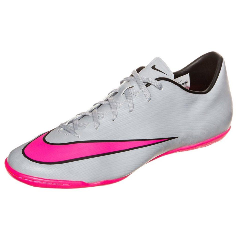 NIKE Mercurial Victory V Indoor Fußballschuh Herren in grau / pink