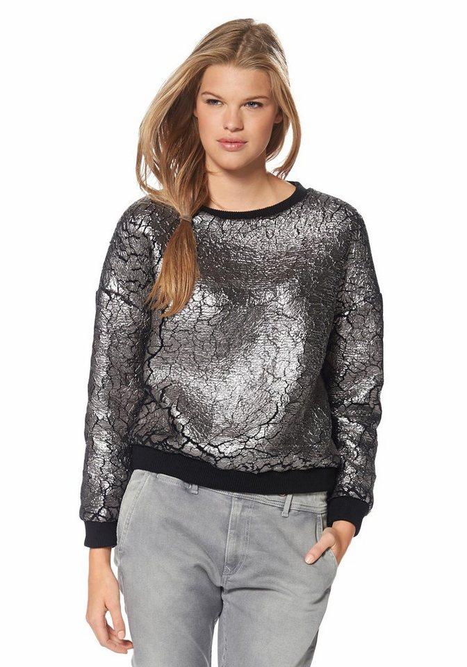 Pepe Jeans Sweatshirt »Pendle« in anthrazit-silberfarben