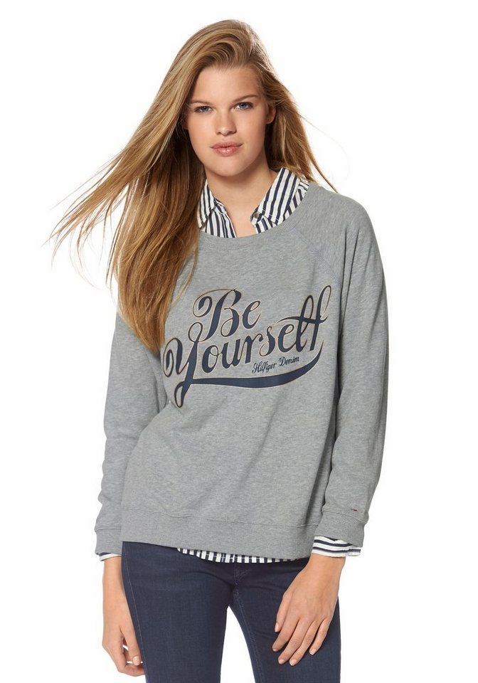 Hilfiger Denim Sweatshirt »Samantha« in grau-meliert