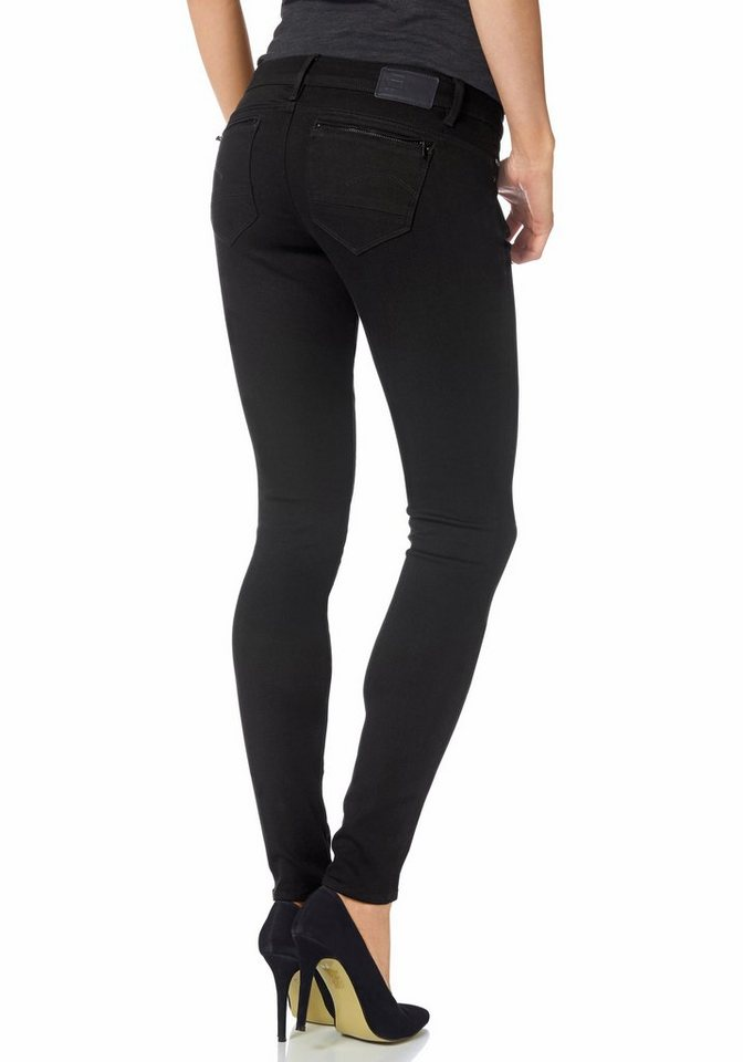 G-Star Röhrenhose »Midge super skinny« in rinsed-black