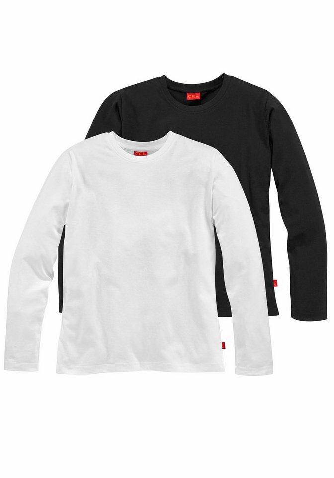 CFL Langarmshirt (Packung, 2 tlg.) in schwarz+weiß