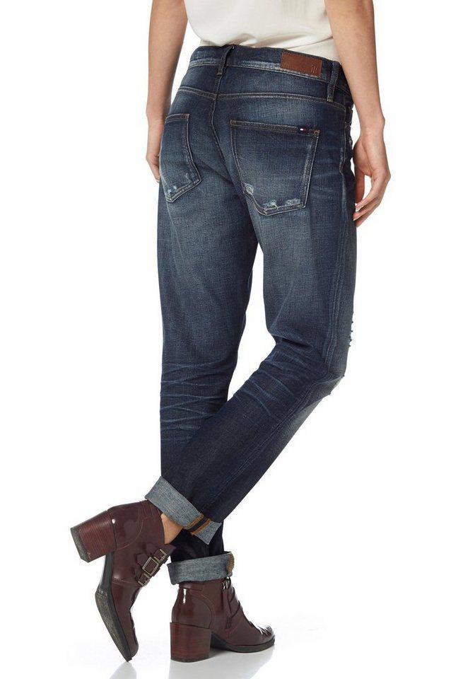 Tommy Hilfiger Boyfriend-Jeans »Oslo« in blue-destroyed-Effekte
