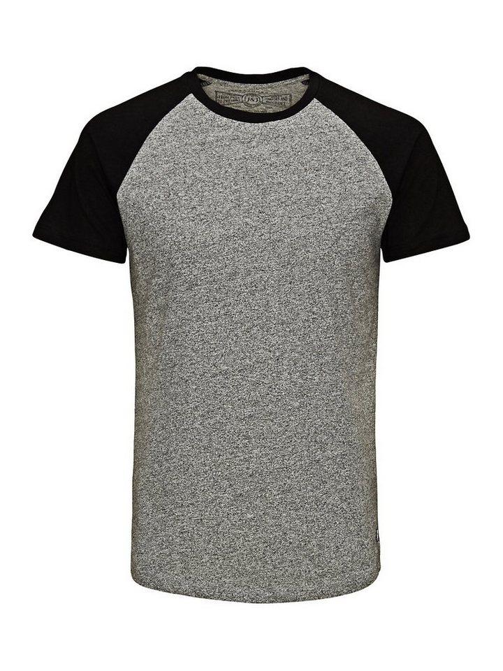 Jack & Jones Schlicht T-Shirt in Grey Melange