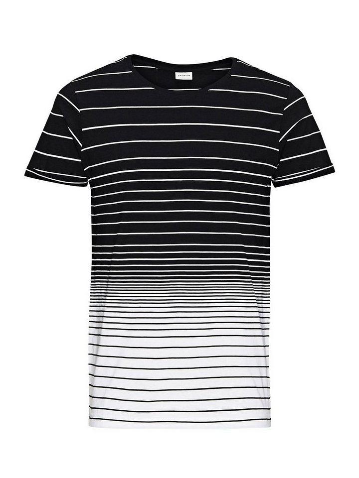 Jack & Jones Gestreift T-Shirt in Black