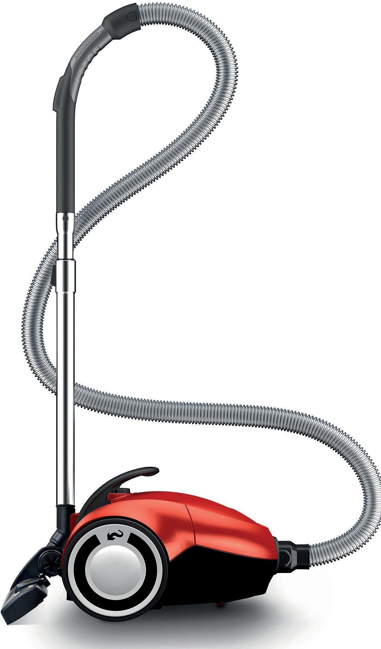 Dirt Devil Staubsauger DD7274-1/rebel74HFC, mit Beutel, Enerigeeffizienzklasse A, metal-red