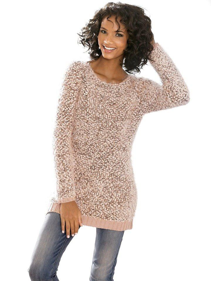 Oversized-Pullover in rosé