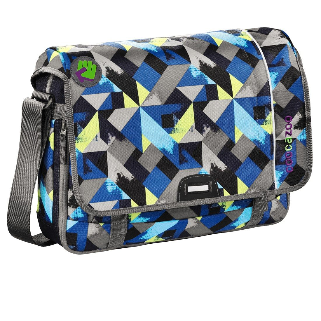 Coocazoo Schultertasche HangDang, Wanna Be Check Lime