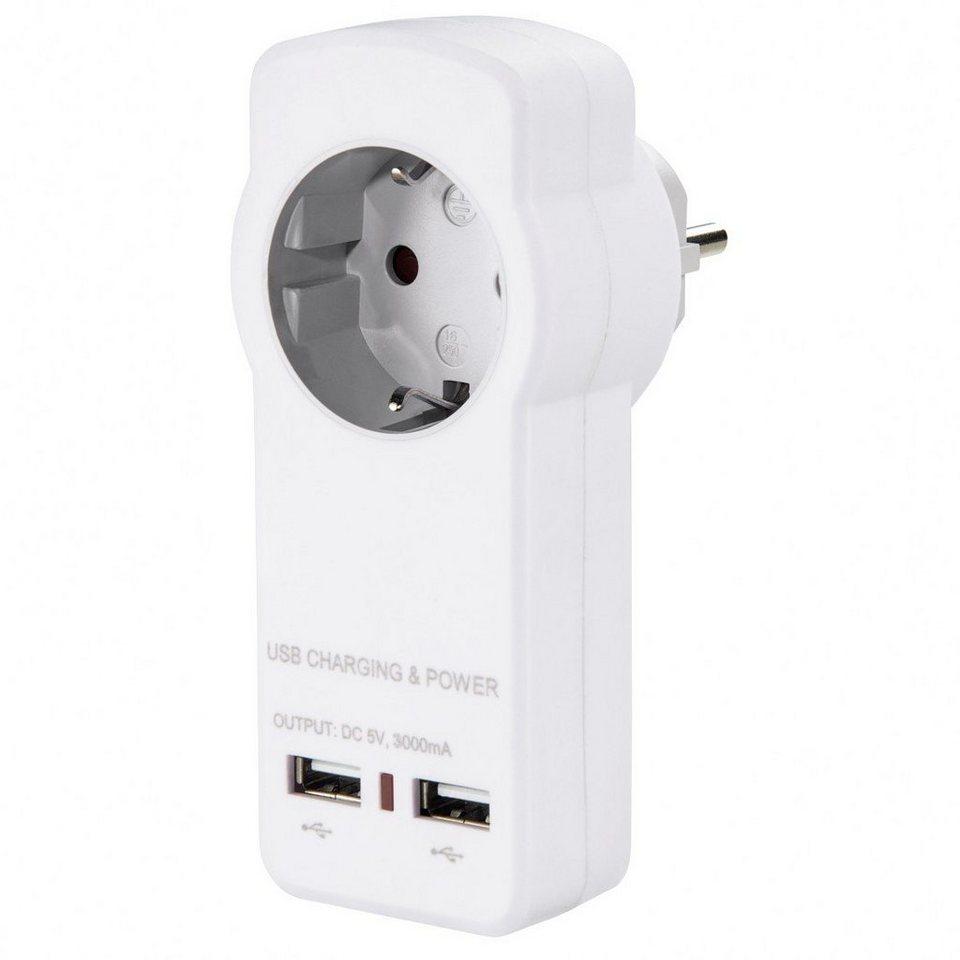 Hama USB-Steckdosenadapter 3.0A in Weiß