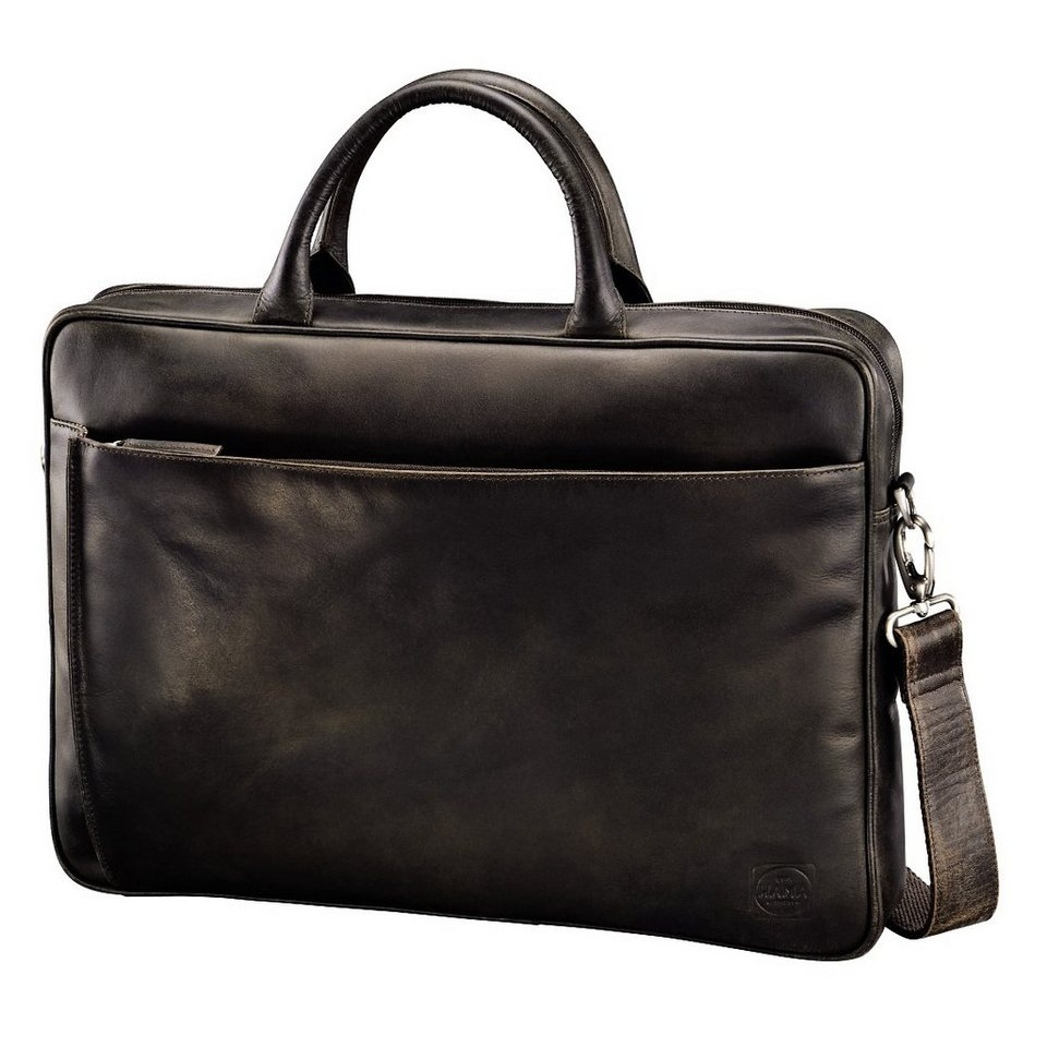 Hama est. 1923 Ledertasche Mathis Paris, Dark Brown in Braun