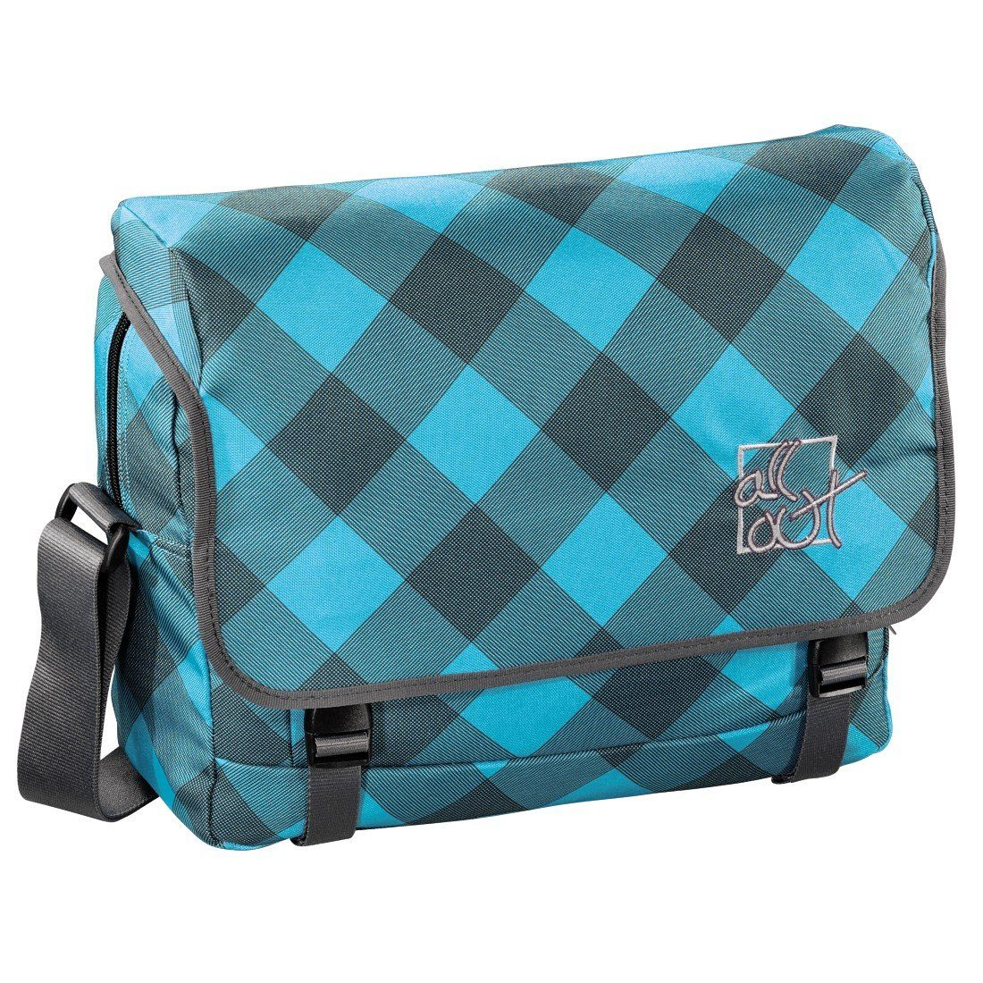 All Out Schultertasche Barnsley, Blue Dream Check