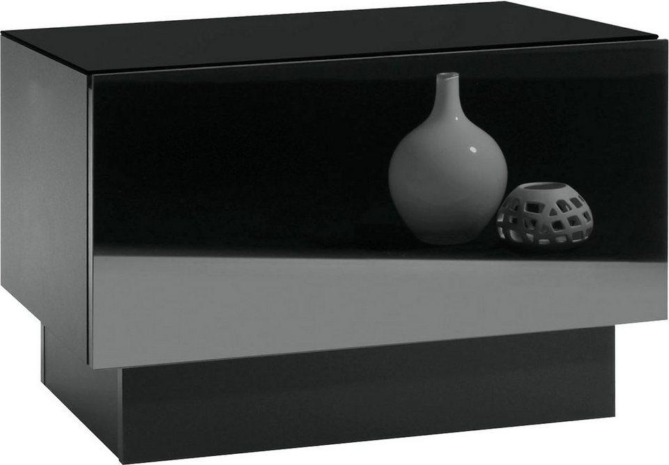 roomed Nachtkonsole in schwarz