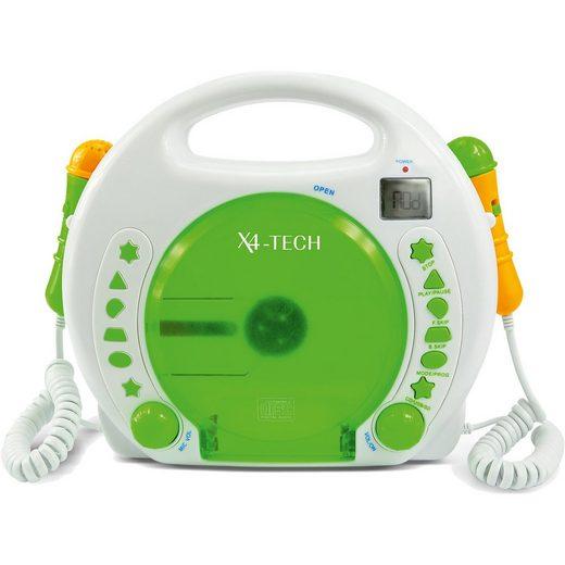 X4-TECH Kinder CD-Player Bobby Joey mit Akku, USB / MP3 und Mikrofon
