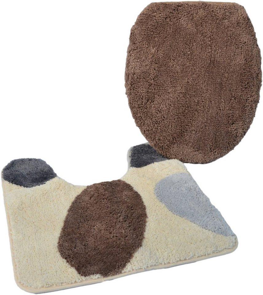badematte stand wc set paterna1 h he 20 mm mikrofaser rutschhemmender r cken kinzler. Black Bedroom Furniture Sets. Home Design Ideas
