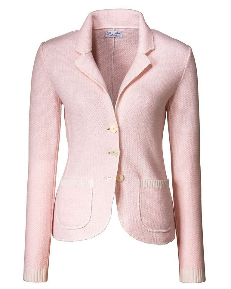 Georg Maier Strickjacke in Rosa-Meliert