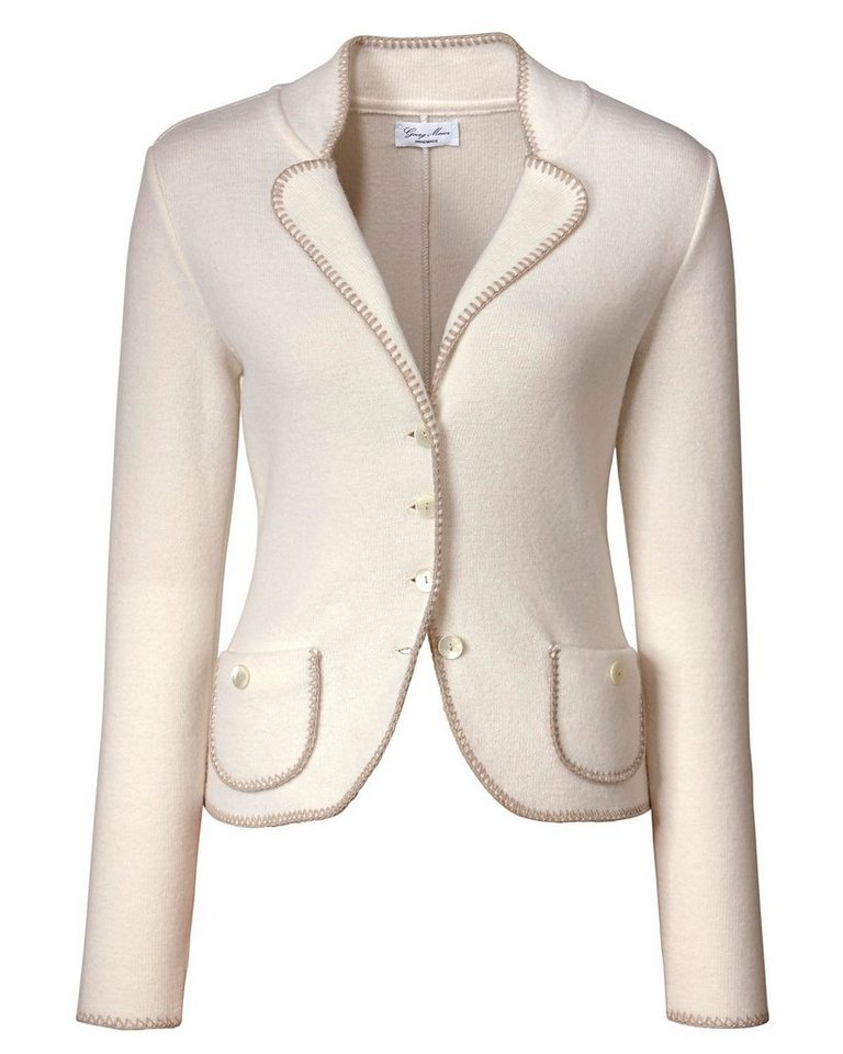 Georg Maier Strickjacke in Creme
