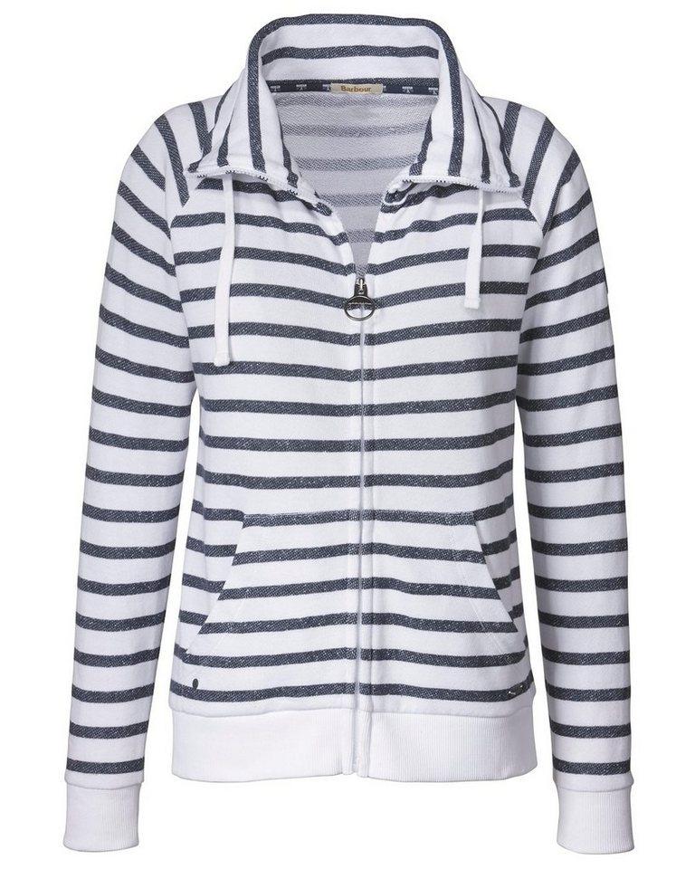 Barbour Sweatjacke Range Sweatshirt in Navy/Weiß