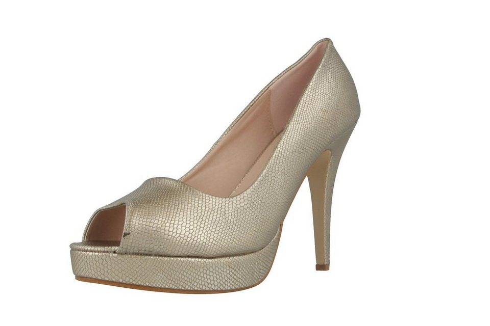 Andres Machado High Heels in Gold