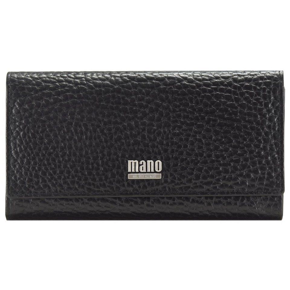 mano Gaudio Geldbörse Leder 19,5 cm in schwarz