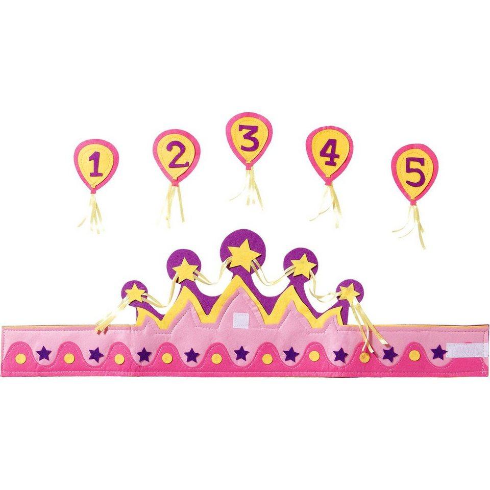 Krone mit Zahlen 1-5 Mädchen