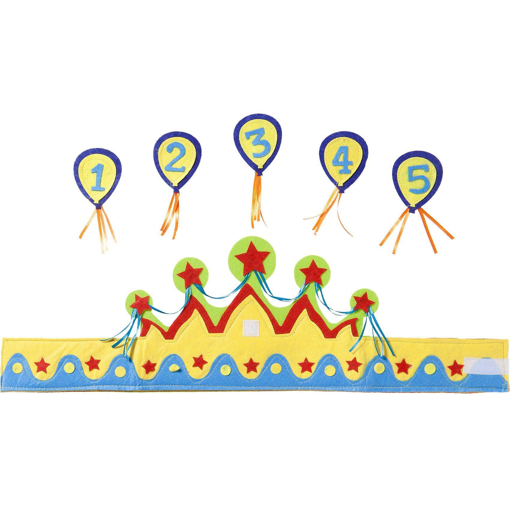 Krone mit Zahlen 1-5 Junge