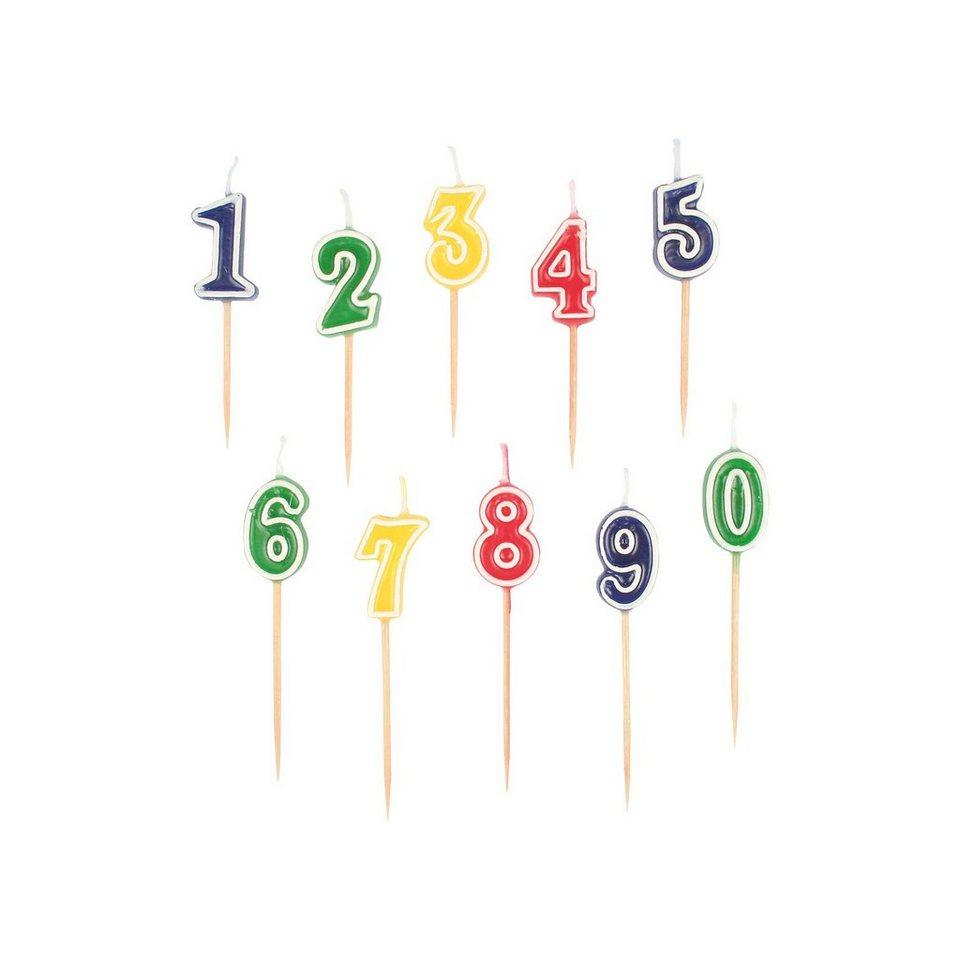 Amscan Zahlenkerzen-Set 0-9 , 10-tlg.