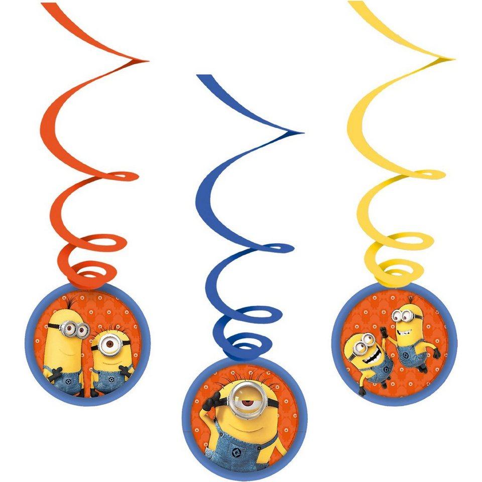 Amscan Deko-Spiralen Minions, 6 Stück