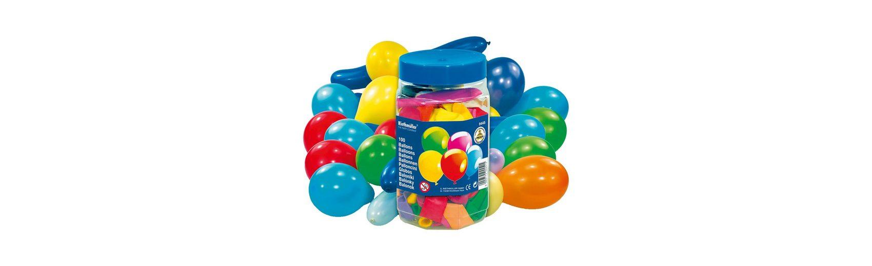 Amscan Luftballons Formen und Farben in Dose , 100 Stück