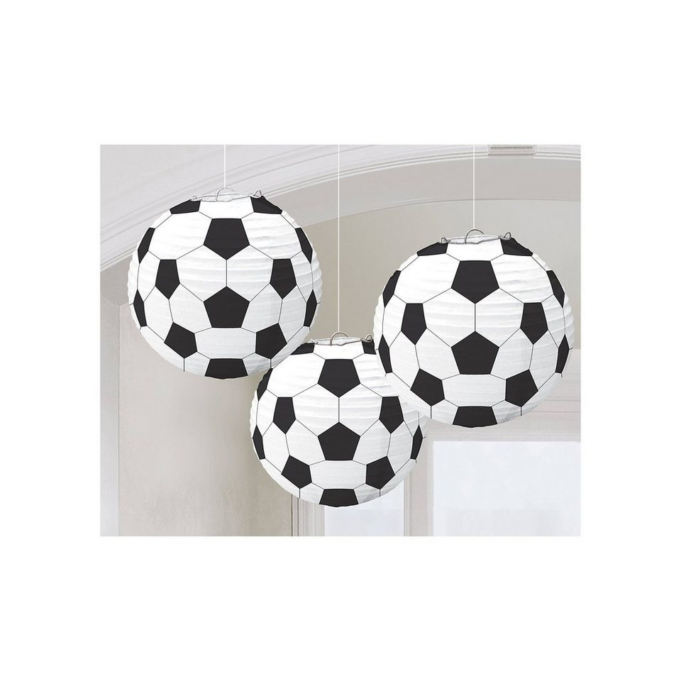 Amscan Lampions Soccer, 3 Stück