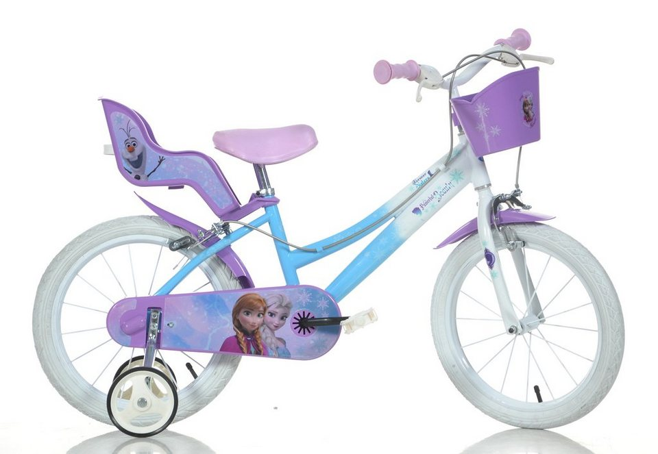 dino kinderfahrrad m dchen 14 zoll 1 gang frozen. Black Bedroom Furniture Sets. Home Design Ideas