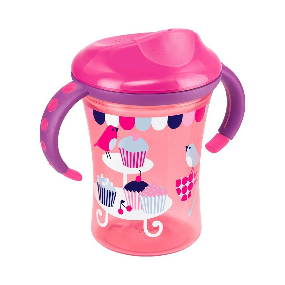 NUK Trinklernbecher Easy Learning 1-2-3 System Cup 2 250ml in pink