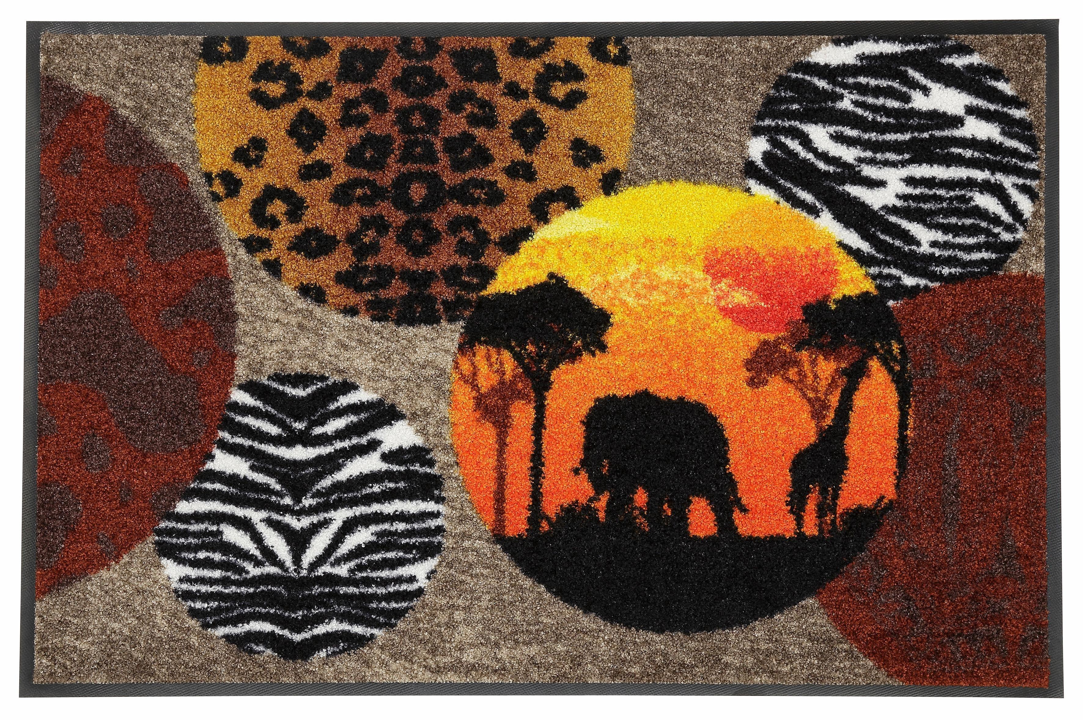 Fußmatte »Afrika«, Salonloewe, rechteckig, Höhe 7 mm