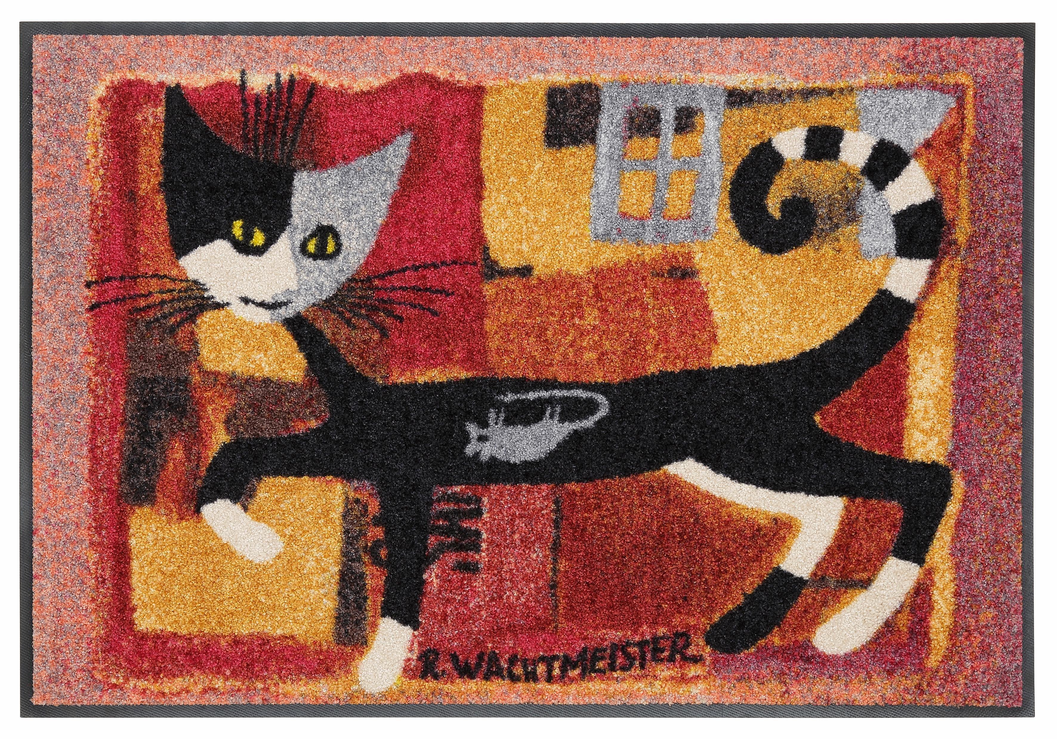 Fußmatte »Ivano«, Rosina Wachtmeister, rechteckig, Höhe 9 mm, mit Katzenmotiv