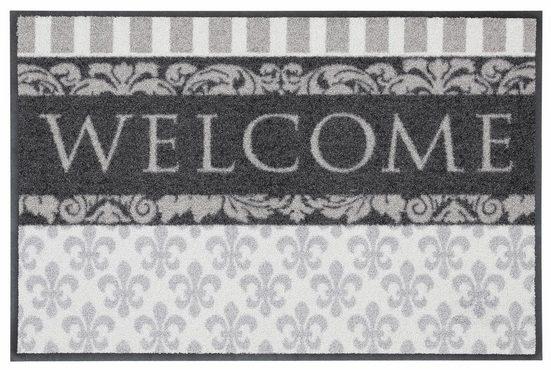 Fußmatte »Welcome Lilien«, Salonloewe, rechteckig, Höhe 9 mm