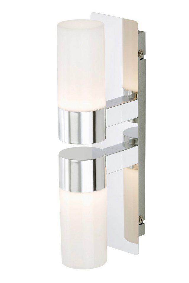 LED-Wandleuchte in silberfarben