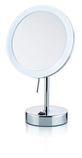Kela Spiegel / Kosmetikspiegel / Standspiegel »Sabina« Durchmesser20 cm, mit Beleuchtung