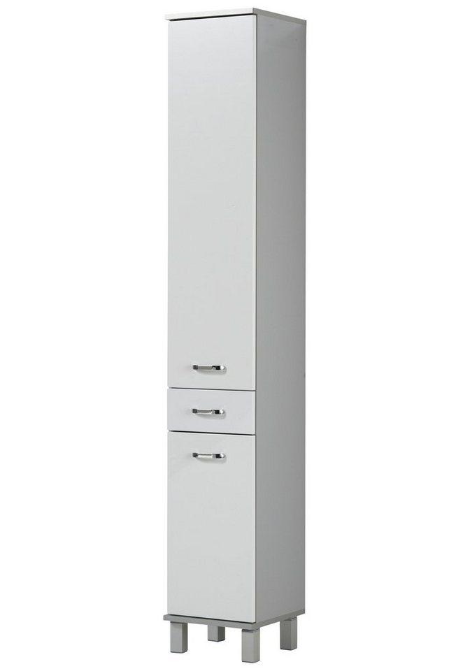 Schildmeyer Hochschrank »Dallas«, Breite 30 cm in weiß/silberfarben