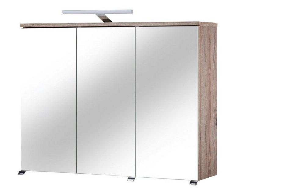 Spiegelschrank »Toskana« Breite 80 cm, mit LED-Beleuchtung in eichefarben