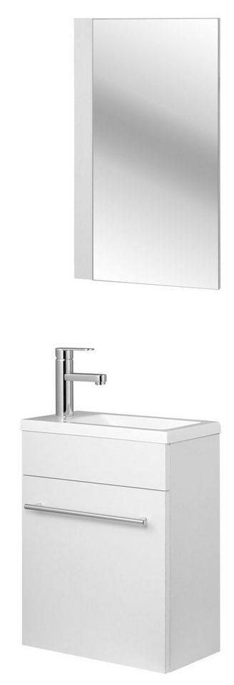 Badmöbel-Set »Athen«, 2-tlg., Breite 40 cm, Tiefe 20,5 cm in weiß