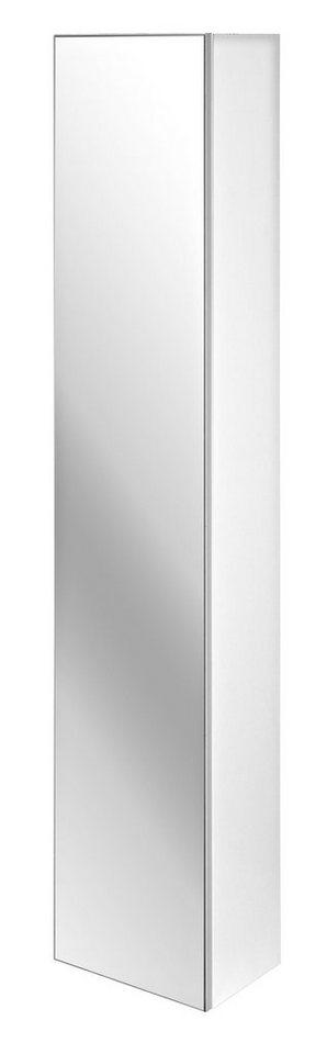 Hochschrank »Athen«, mit Spiegelfront, Breite 30 cm in weiß