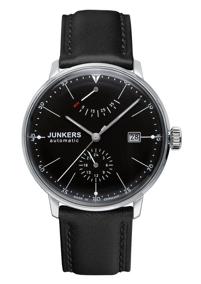 Junkers-Uhren Automatikuhr »Bauhaus, 6060-2« Made in Germany in schwarz