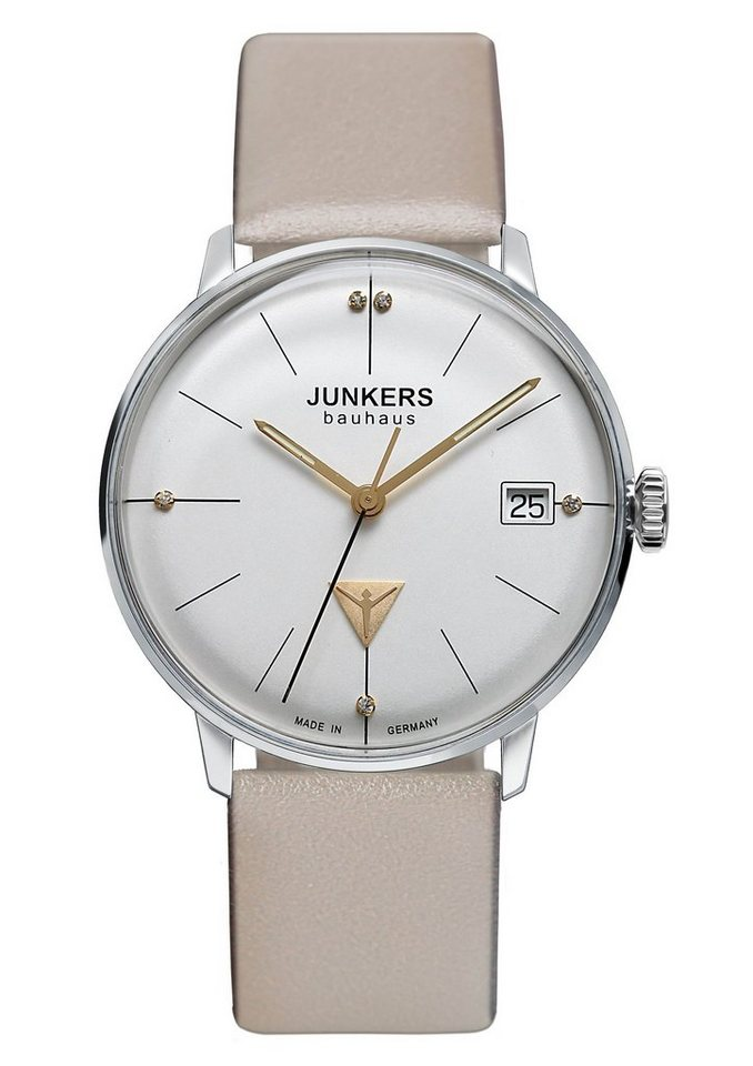 Junkers-Uhren Quarzuhr »Bauhaus Lady, 6073-5« Made in Germany in beige